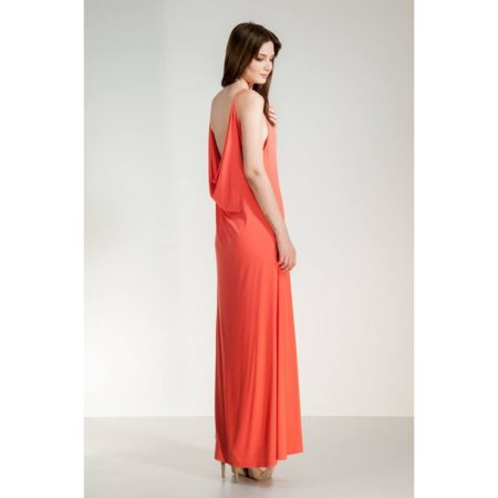 Μακρύ φόρεμα ντραπέ ανοικτή πλάτη