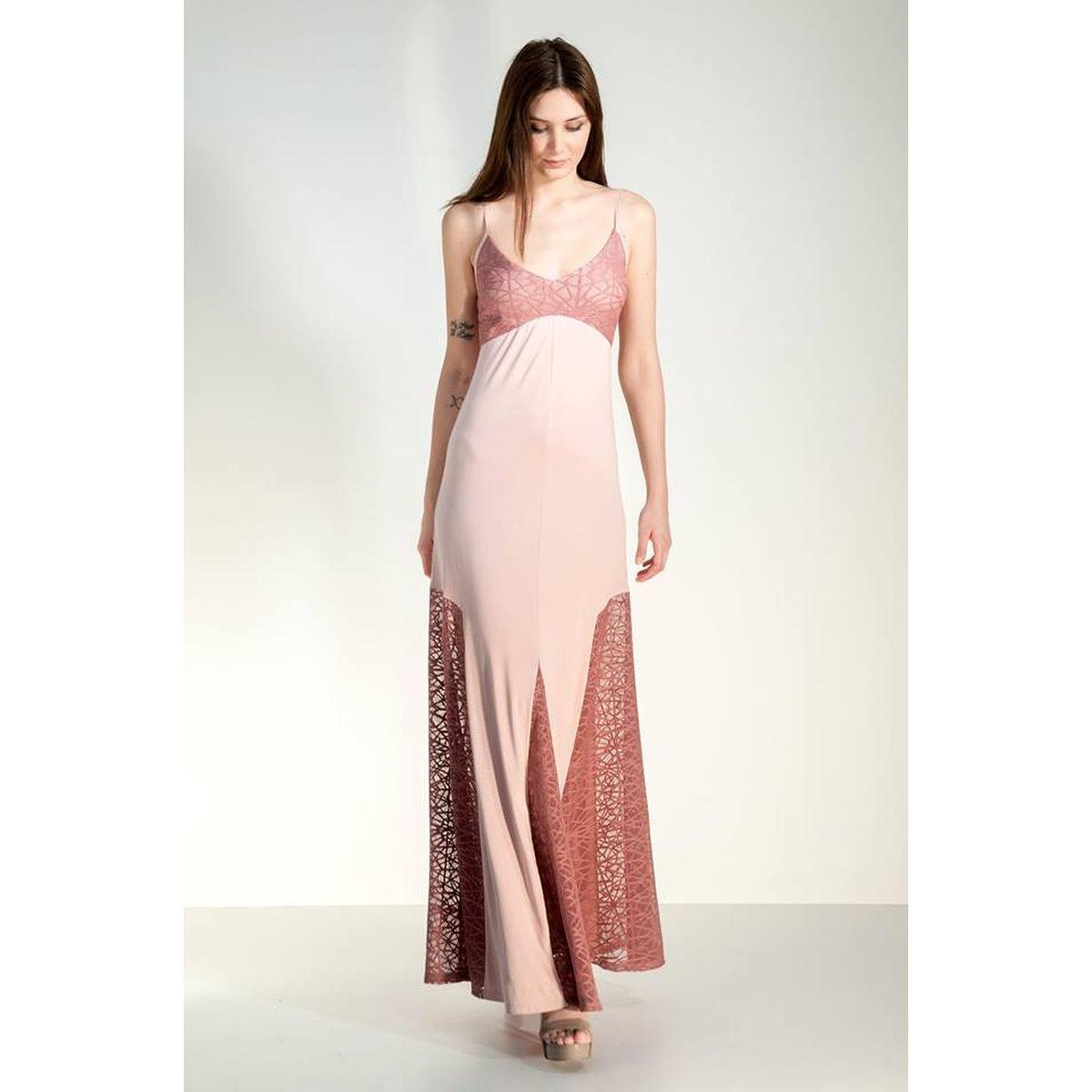 e9158351bd3 Τιράντα μακρύ φόρεμα με δαντέλες - Dressme