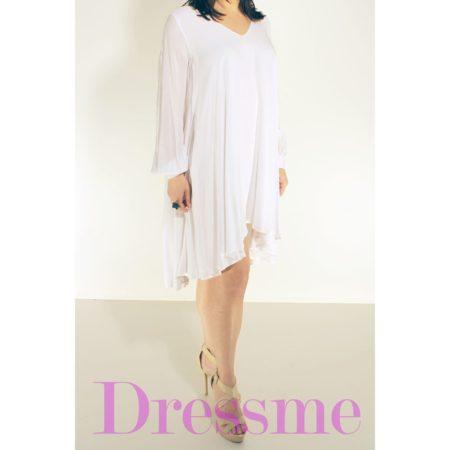 Φόρεμα-λευκό-κοντό-μπροστά