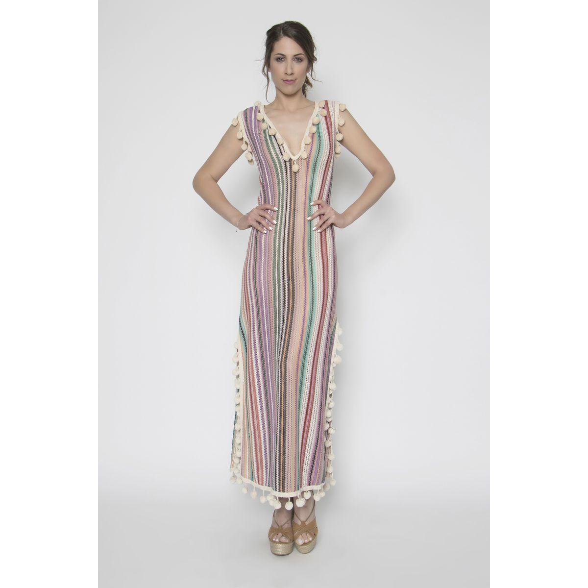 a6bbfa07df73 Φόρεμα καλοκαιρινό ριγέ για παραλία - Dressme