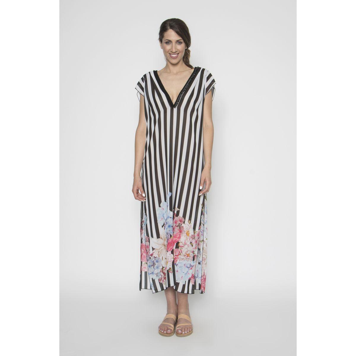 f482a545c5ee summer dressme.gr · Φόρεμα καλοκαιρινό με πον-πον. Καφτάνια για παραλία 2016